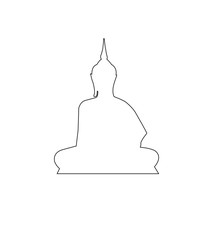 Buddha Path on the white background