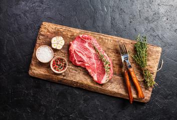 Raw fresh ribeye steak