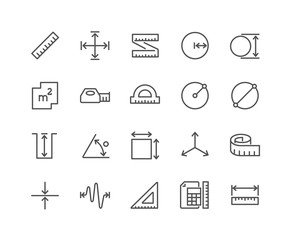 Line Measure Icons