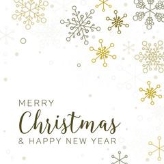 Retro simple Christmas card