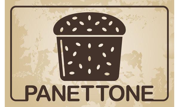 Italian Christmas cake - Panettone - vector