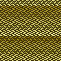 Seamless pattern. Golden waves texture