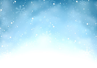 Falling Snow - Winter Background Illustration, Vector