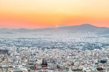 Athens at sunset, Greece