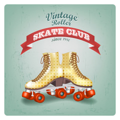 Vintage Roller Skate Club since 1980, typography, t-shirt graphics
