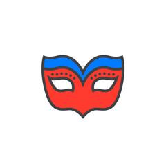 Masquerade mask line icon, filled outline vector sign, linear colorful pictogram isolated on white. logo illustration