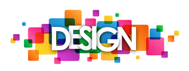"""""""DESIGN"""" overlapping vector letters icon"""