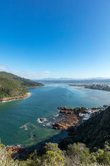 View towards Knysna from Knysna Heads. Garden Route. Western Cape. South Africa