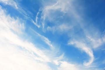 Blue sky clouds background.