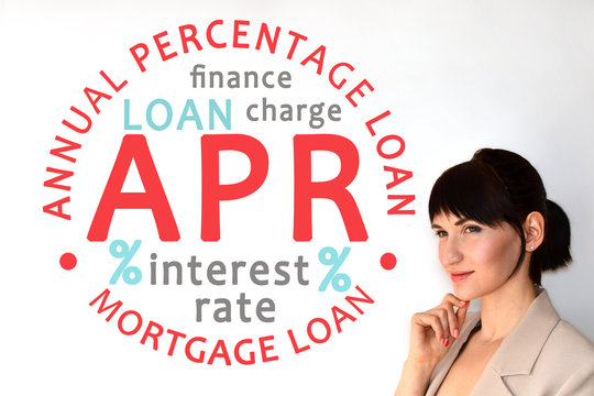 Annual Percentage Rate. APR. Loan, mortgage loan and finance term