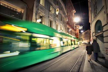 Night transportation in the city