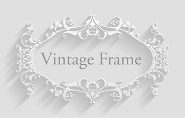 Vintage Victorian Frame Background