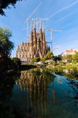 La Sagrada Familia, the cathedral designed by Antoni Gaudi in Barcelona - Spain.