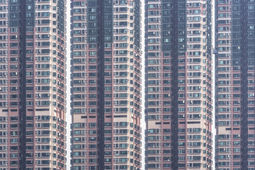 Highrise residential building in Hong Kong city