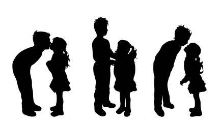 Vector silhouette of friends.