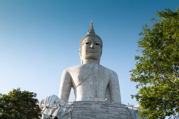 Big Buddha Mountain Manorom Mukdahan province.