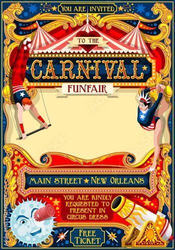 Circus juggler show retro template cartoon poster invite kids game circus juggler show retro template cartoon poster invite kids game birthday party insight stopboris Images