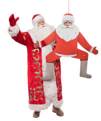 Santa Claus on a gray background