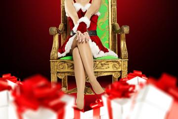 santa claus woman legs
