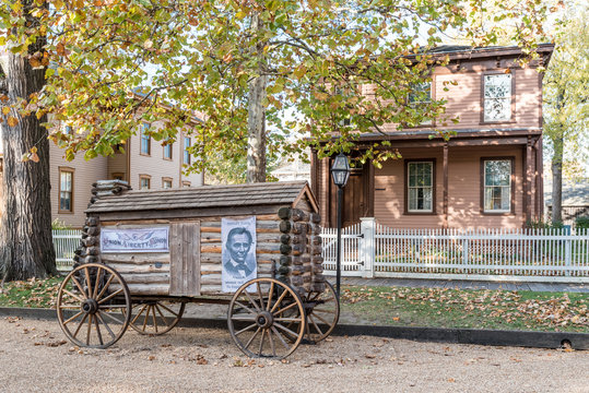 Abraham Lincoln Log Cabin Campaign Wagon