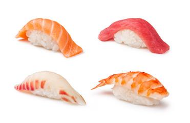 Aluminium Prints Sushi bar Nigiri Sushi set