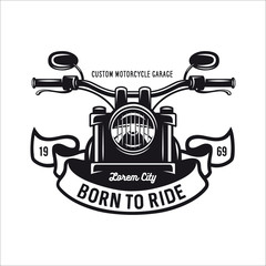 Vintage motorcycle t-shirt graphics. Vector illustration.