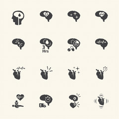 icon set of stroke disease