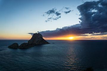 Sonnenuntergang im Westen von Ibiza
