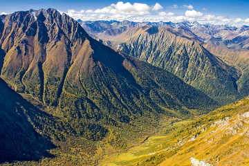 Mountain landscape top view