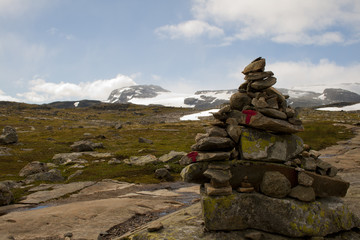 Stone cairn as a navigation mark