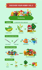 Gardening - poster, brochure cover template