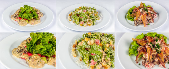 three salads for christmas table