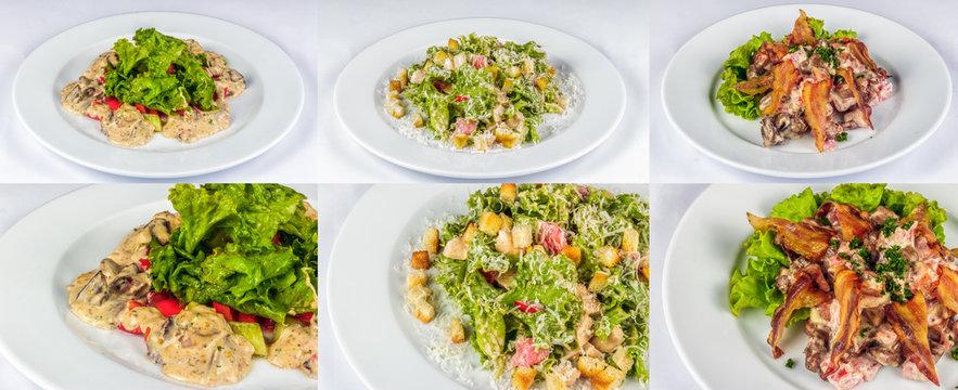 three salads for christmas table
