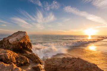 beautiful sunset at southern california beach Wall mural