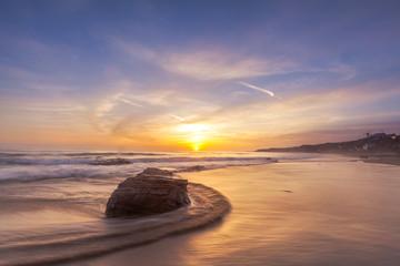 Beautiful sunset at Laguna beach in southern California. Wall mural