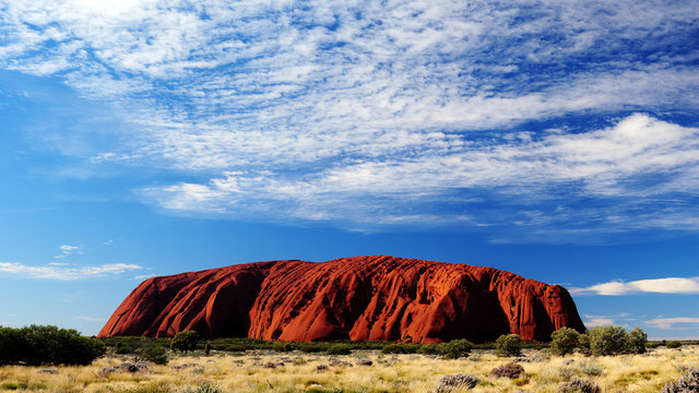 Australia Landscape : Red rock of Alice Spring, Yulara, Mutitjulu