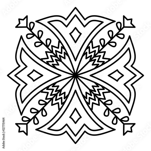 quot Simple mandala flower design for coloring book pages