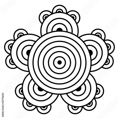 Simple Mandala Flower Design For Coloring Book Pages Doodle Floral