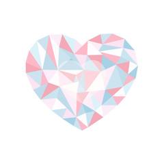 multicolour polygonal heart. a symbol of Valentine's Day - Stock