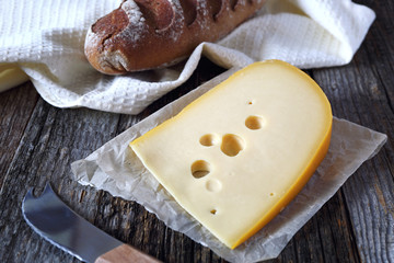Maasdam cheese and and bread