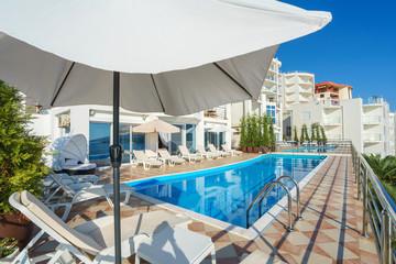 Swimming pool in a private luxury villa