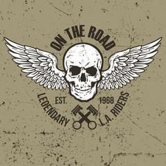 Vintage Skull Label Design