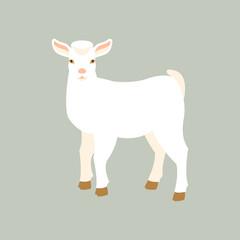 goat kid vector illustration style Flat