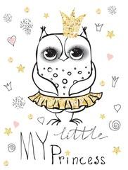 Cute owl princess