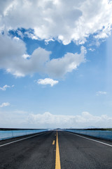 Empty road with blue sky.