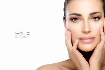 Beauty Makeup and Nail Art Concept