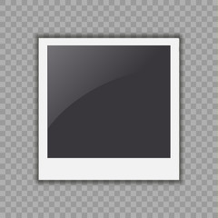 Photo frame vector. Simple realistic illustration isolated on white background.