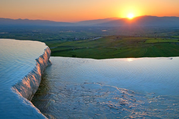 Natural terraces in Pamukkale.