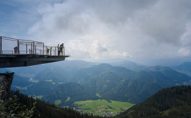 Skywalk platform, Steinplatte mountain, Tirol, Austria