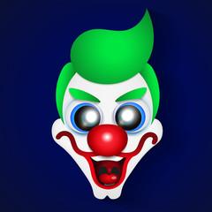 Funny clown celebration